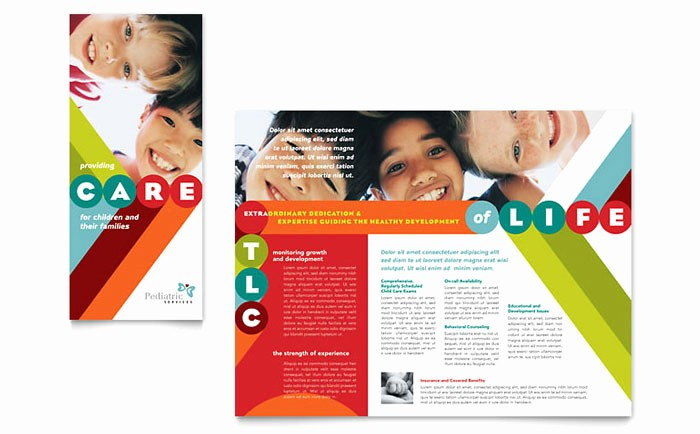 Design A Pamphlet In Word Best Of Pediatrician & Child Care Brochure Template Design