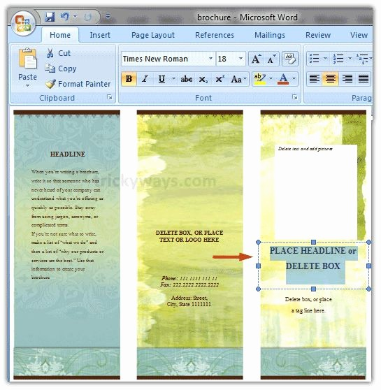 Design A Pamphlet In Word Elegant Create Brochure In Word Renanlopes