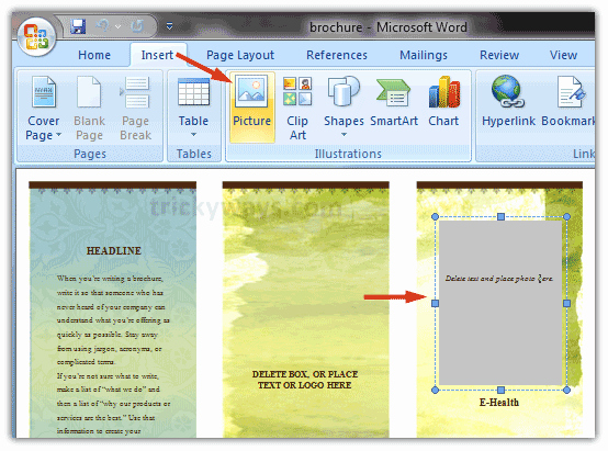 Design A Pamphlet In Word Fresh Create Brochure In Word 2007 or 2010