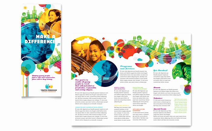 Design A Pamphlet In Word Fresh Youth Program Tri Fold Brochure Template Design
