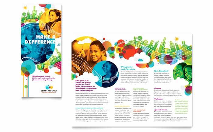 Design A Pamphlet In Word Fresh Youth Program Tri Fold Brochure Template Design