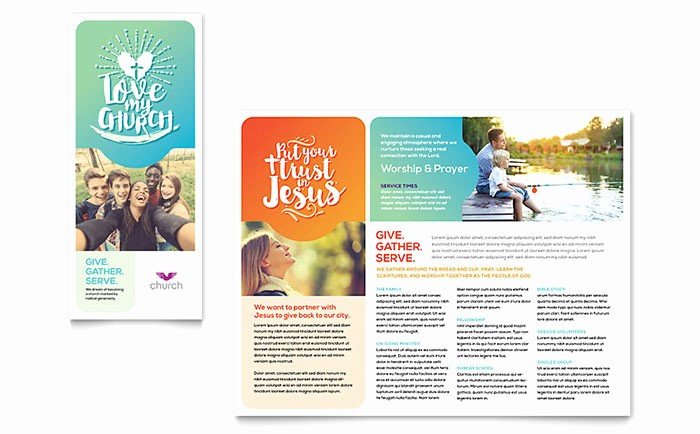 Design A Pamphlet In Word Inspirational Church Brochure Template Design