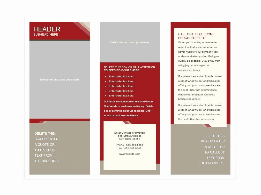Design A Pamphlet In Word Luxury 31 Free Brochure Templates Ms Word and Pdf Free
