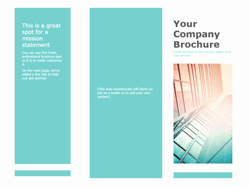 Design A Pamphlet In Word Luxury Brochure