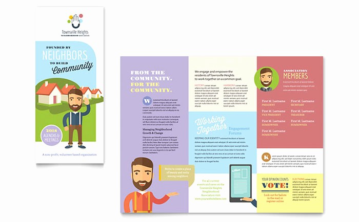 Design A Pamphlet In Word Unique Homeowners association Brochure Template Design