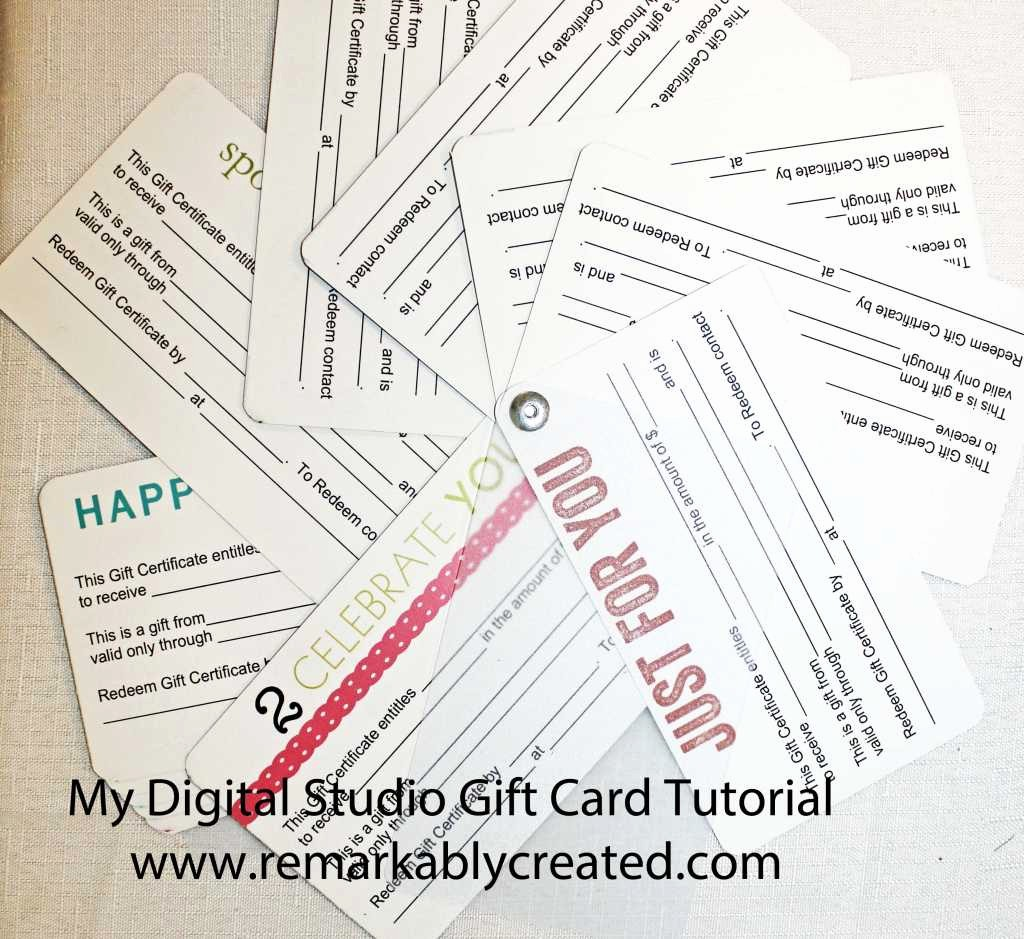 Design Your Own Gift Certificate Beautiful My Digital Studio Monday Create Your Own Gift