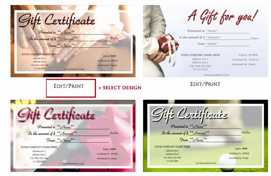 Design Your Own Gift Certificate Inspirational Learn How to Design and Print Your Own Gift Certificates