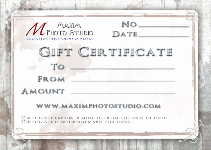 Design Your Own Gift Certificate Luxury Gift Certificate