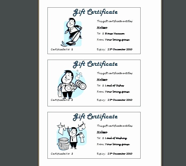 Design Your Own Gift Certificate New Create Your Own Gift Card Certificate Free Massage