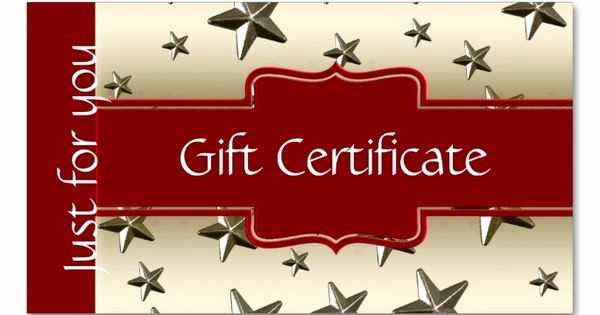 Design Your Own Gift Certificate New Customized Shiny Gold Stars Gift Certificate Double Sided