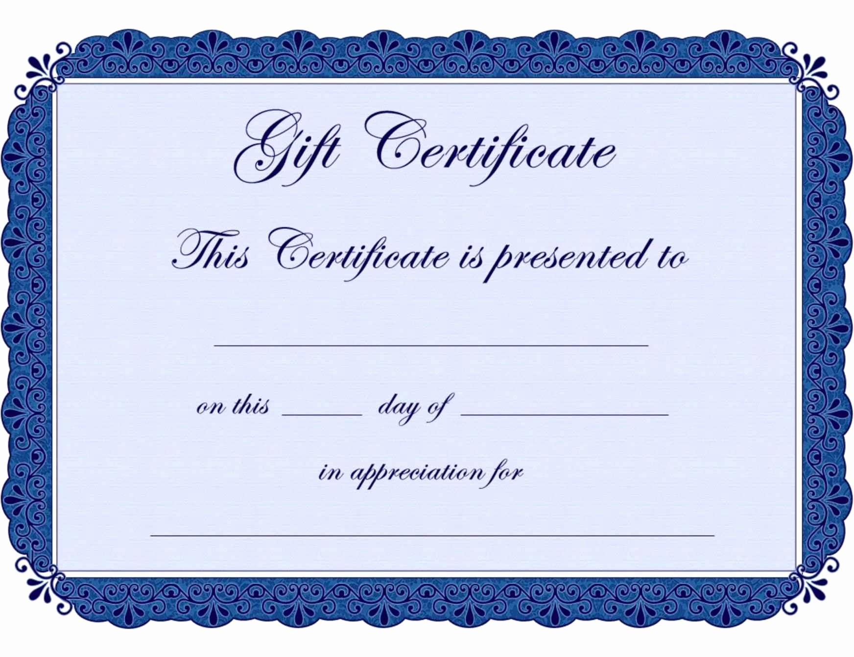 Design Your Own Gift Certificate New Design Your Own Gift Certificate Template Update234