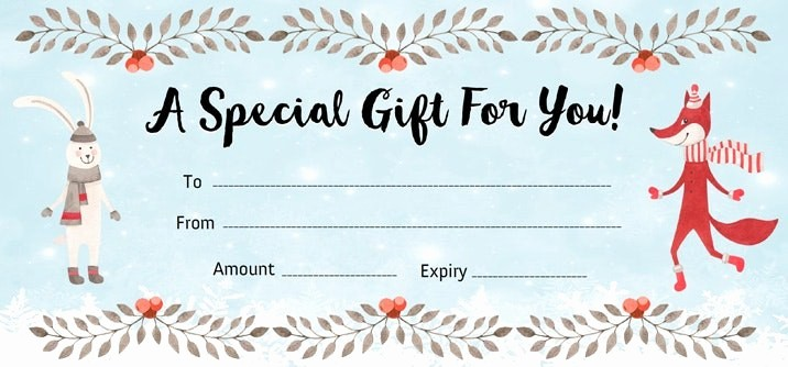 Design Your Own Gift Certificate Unique Make Your Own Gift Certificate Lacalabaza