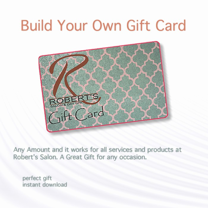 Design Your Own Gift Certificate Unique Robert S Salon Products A Stylist S Best Friend