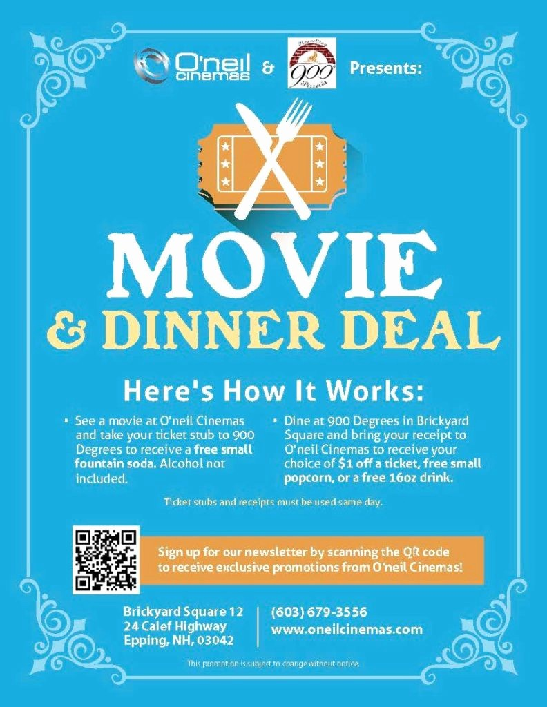 Dinner and A Movie Flyer Beautiful Promotions