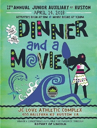 Dinner and A Movie Flyer Best Of Junior Auxiliary Of Ruston Dinner and A Movie