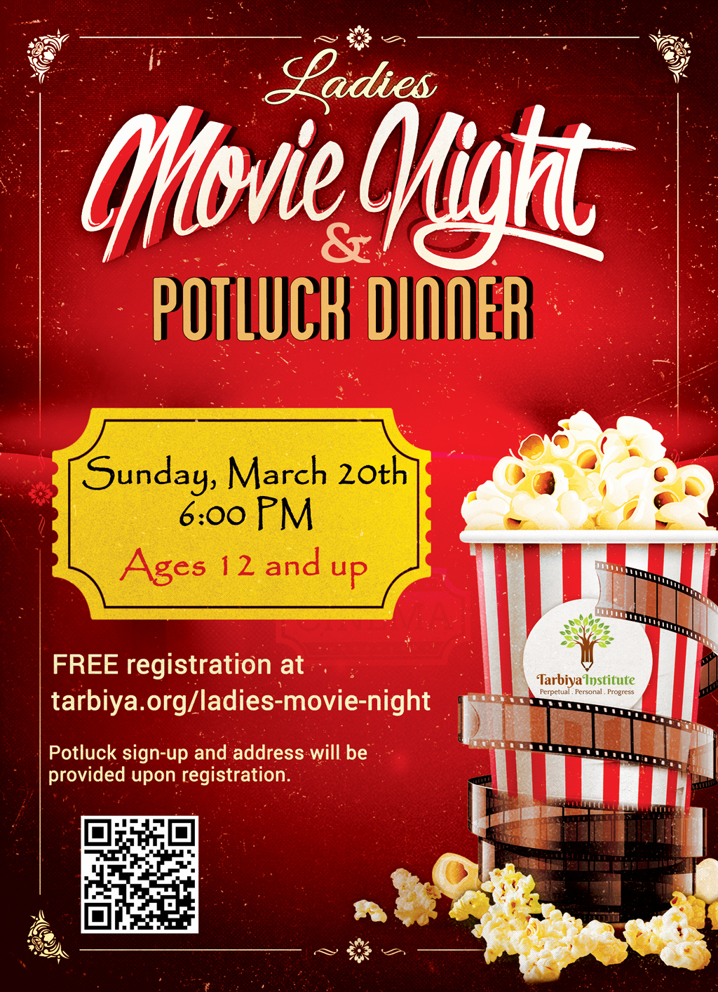 Dinner and A Movie Flyer Best Of La S Movie Night – Tarbiya Institute