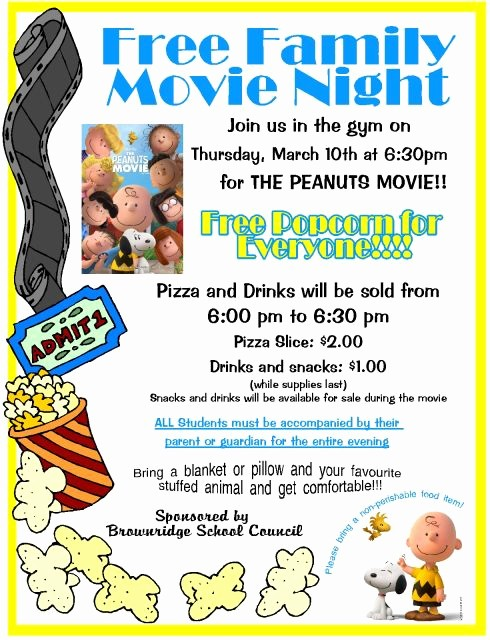 Dinner and A Movie Flyer Elegant 1000 Ideas About Family Movie Night On Pinterest