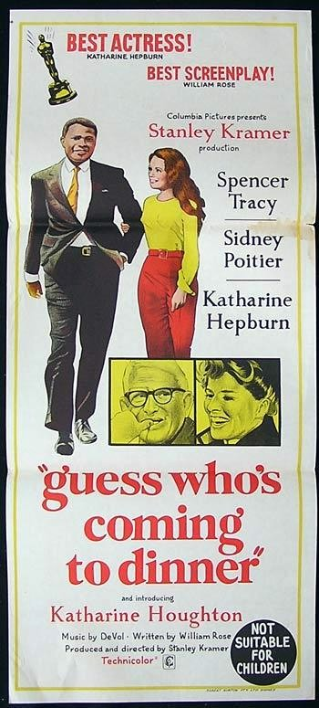 Dinner and A Movie Flyer Elegant Guess whos Ing to Dinner Movie Poster 1967 Spencer