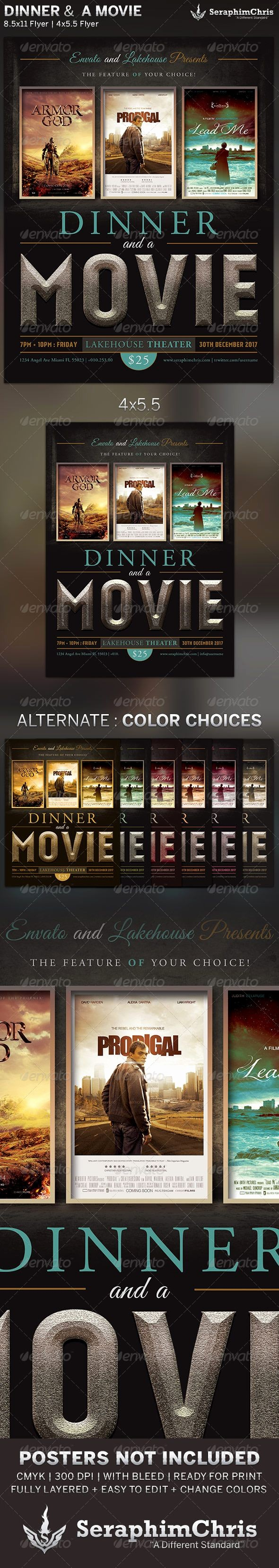 Dinner and A Movie Flyer Inspirational 54 Best Images About Dinner and A Movie Night On Pinterest