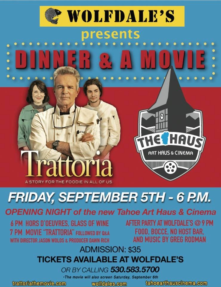 Dinner and A Movie Flyer Inspirational Dinner and A Movie Tahoe Style