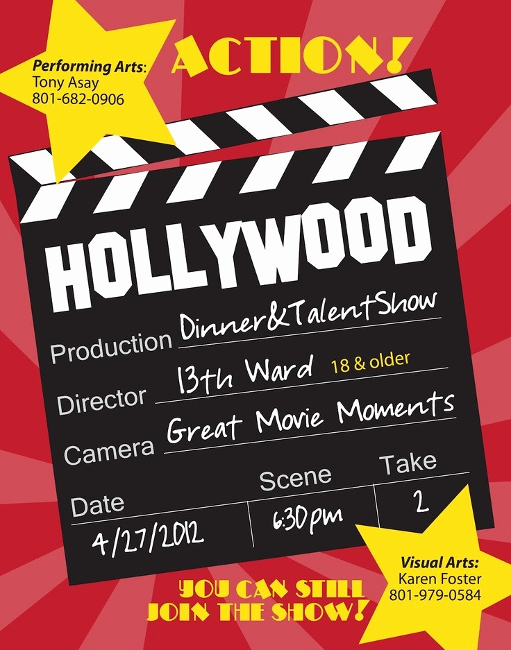 Dinner and A Movie Flyer Lovely 1000 Images About Talent Show On Pinterest