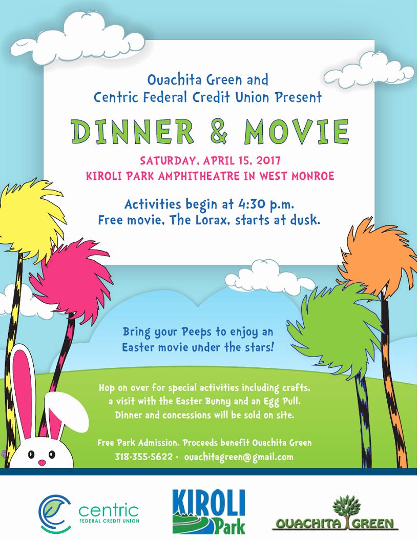 Dinner and A Movie Flyer Lovely Dinner & A Movie Kiroli Park Apr 15 2017 Wmwo