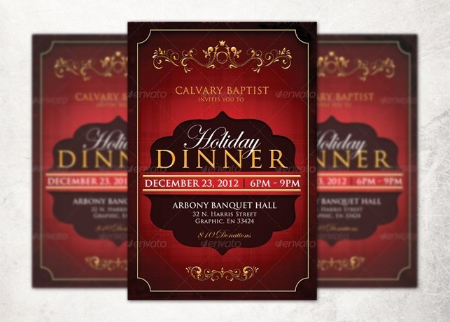 Dinner and A Movie Flyer Luxury Holiday Dinner Church Flyer Template