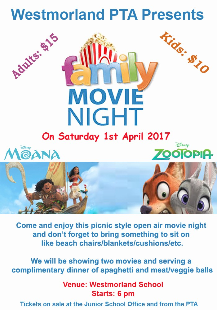 Dinner and A Movie Flyer Unique Pta Fundraising Family Movie Night – Westmorland School