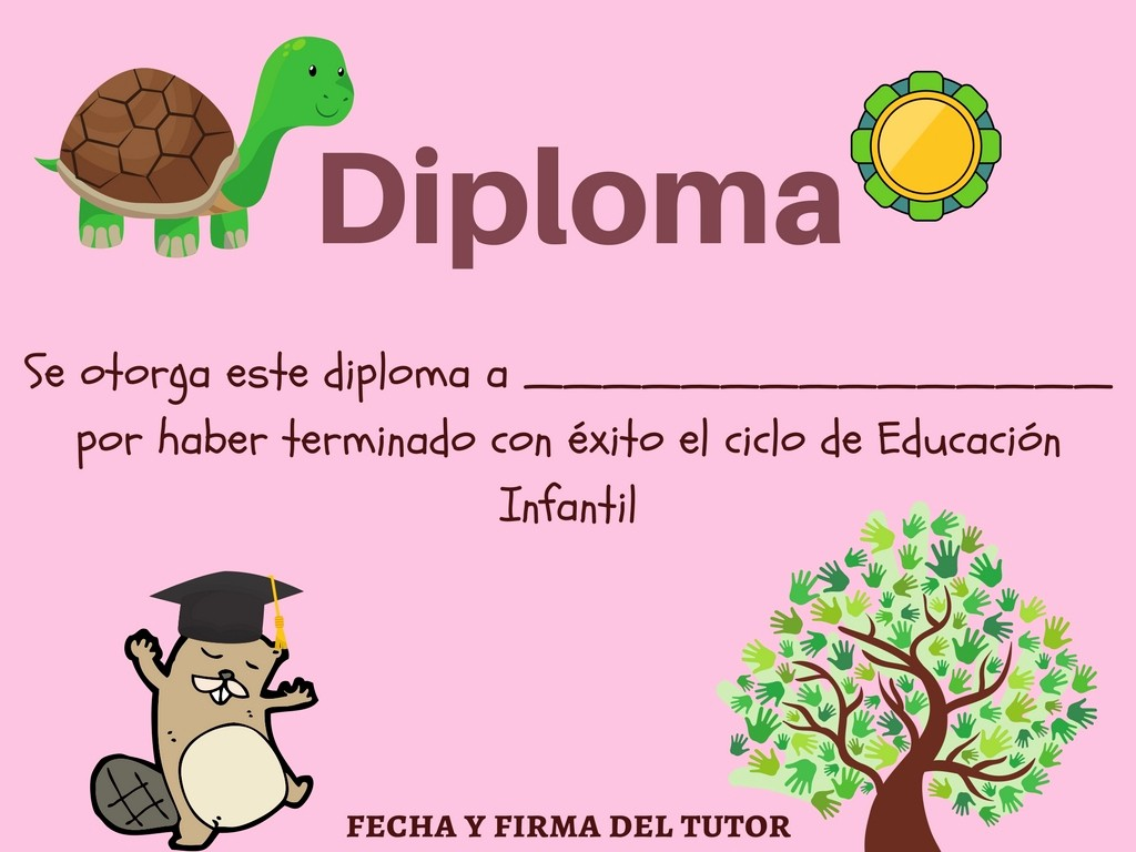 Diplomas Para Imprimir Y Editar Beautiful Colección De Diplomas Infantiles Para Fin De Curso Editar