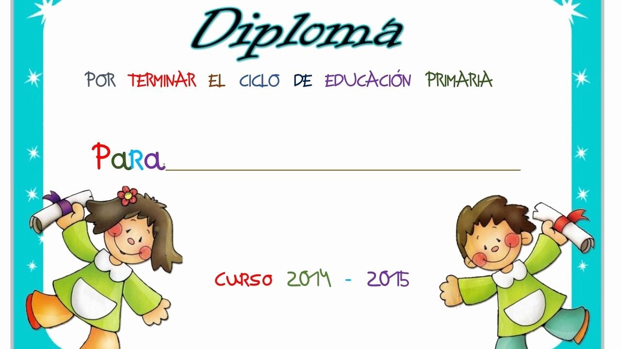 Diplomas Para Imprimir Y Editar Elegant Diplomas Fin De Curso 30 Imagenes Educativas
