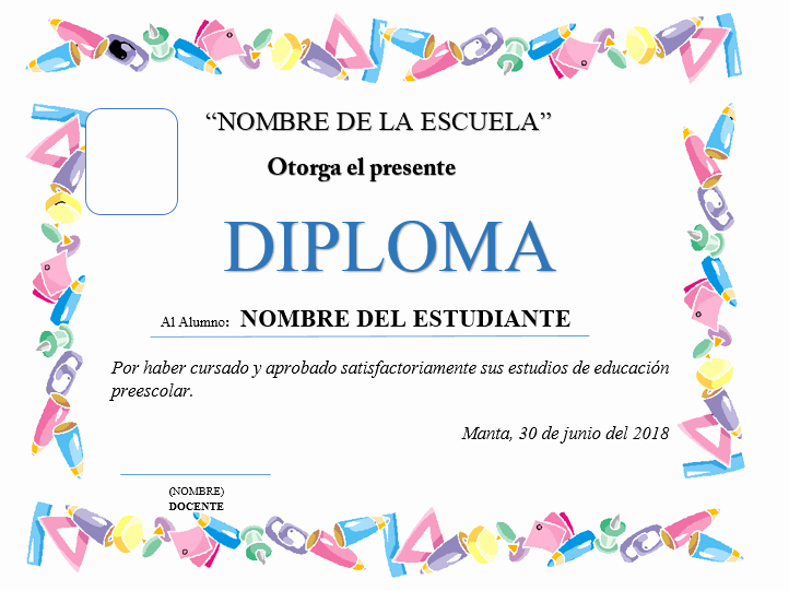 Diplomas Para Imprimir Y Editar Elegant Plantillas De Diplomas Para Editar Ayuda Docente