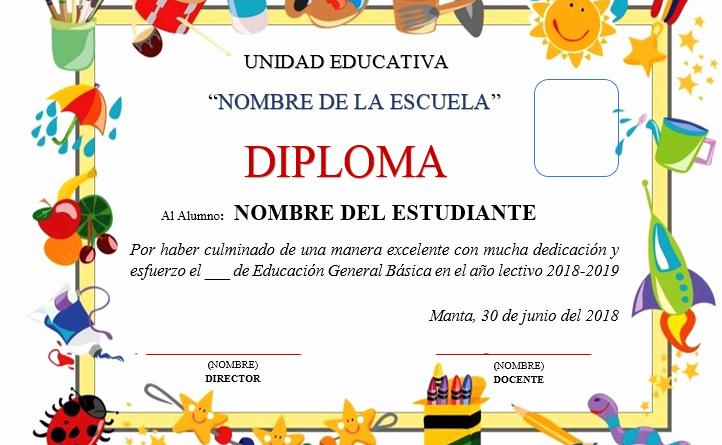 Diplomas Para Imprimir Y Editar Lovely Aportes Plantillas De Diplomas Para Tu Clausura Escolar