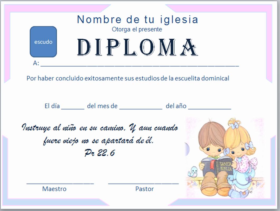 Diplomas Para Imprimir Y Editar New Iglesia Mar Abierto Diplomas Cristianos Para Descargar Gratis