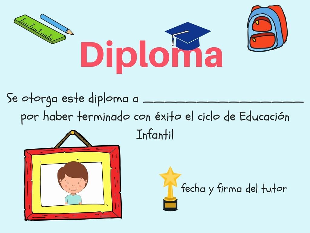 Diplomas Para Imprimir Y Editar Unique Colección De Diplomas Infantiles Para Fin De Curso Editar