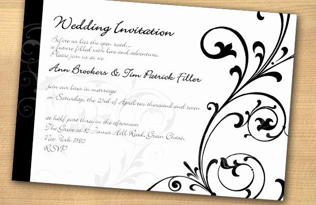Diseño De Tarjetas De Invitacion Awesome Black and White