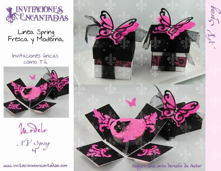 Diseño De Tarjetas De Invitacion Awesome Invitacion De Caja Explosiva Con Diseño De Mariposa