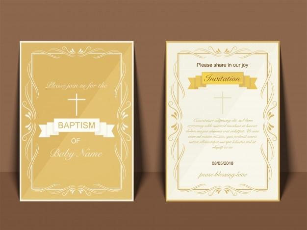Diseño De Tarjetas De Invitacion Elegant Fondos Para Bautizos
