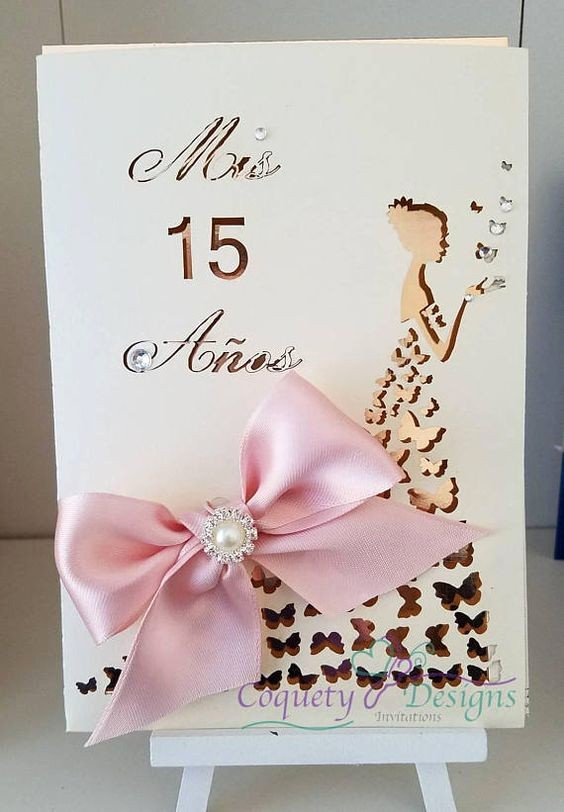 Diseño De Tarjetas De Invitacion Elegant Invitaciones De 15 Años Invitaciones De Quince Años