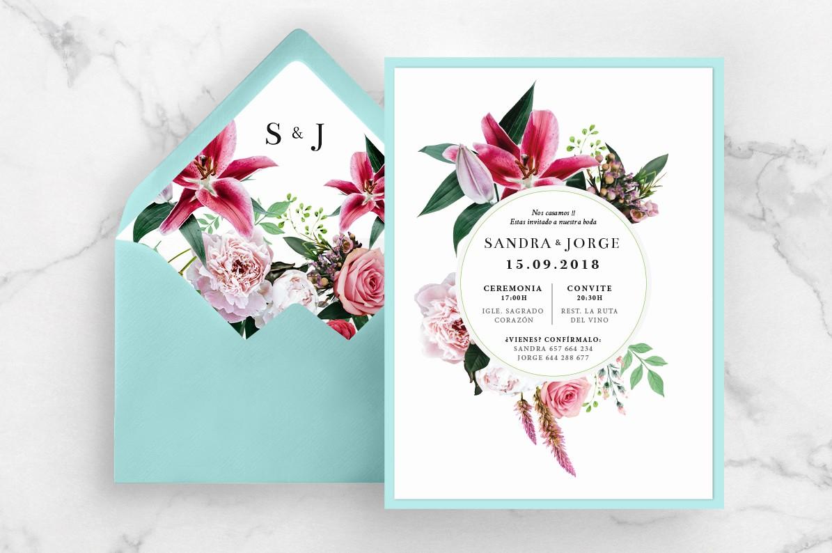 Diseño De Tarjetas De Invitacion Elegant Sara Graphika – Diseño Y Fotografa De Bodas