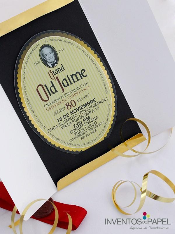 Diseño De Tarjetas De Invitacion Luxury CumpleaÑos