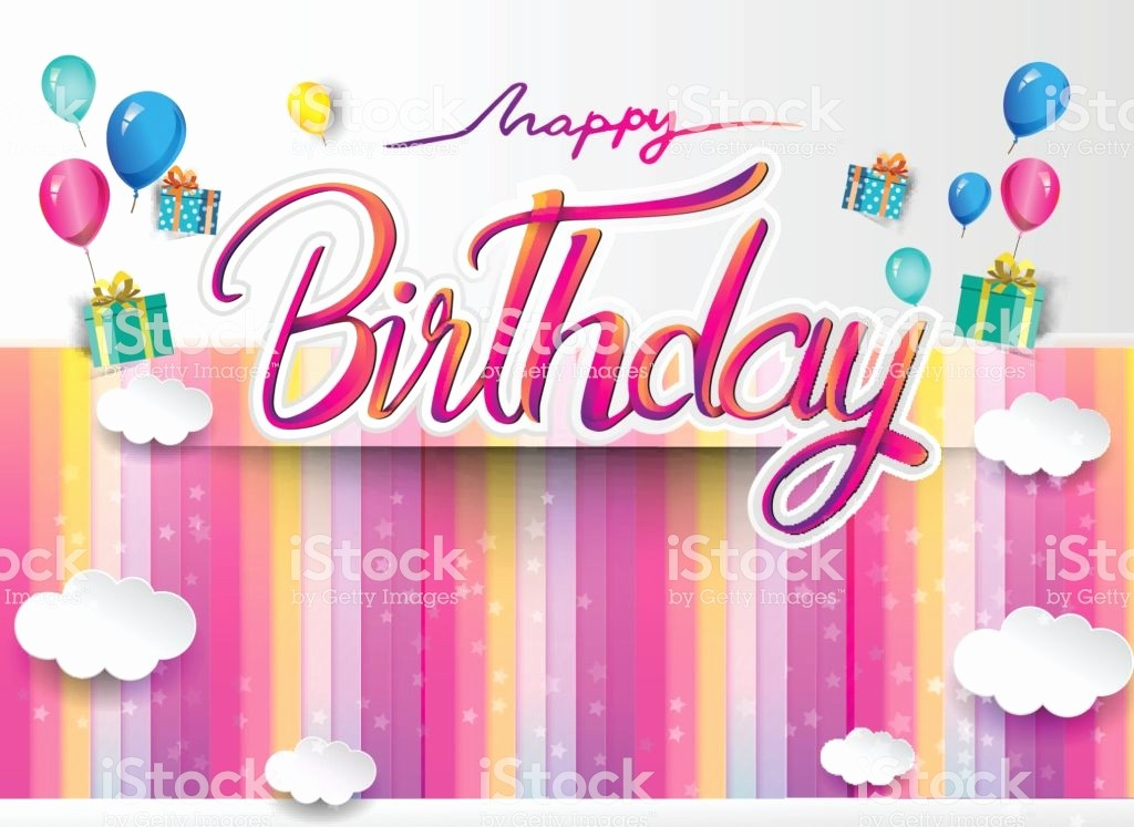 Diseños De Tarjetas De Cumpleaños Beautiful Ilustración De Feliz Cumpleaños Tipografa Vector Diseño