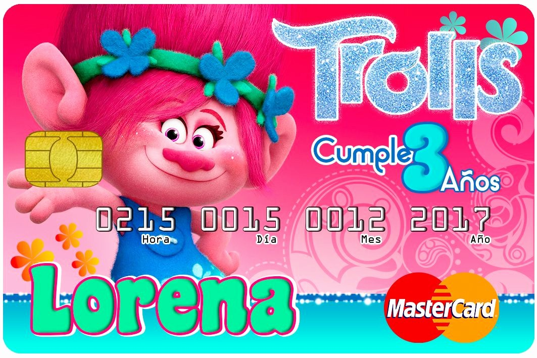 Diseños De Tarjetas De Cumpleaños Best Of Credicard Trolls Diseños Psd Para Tarjetas De InvitaciÓn