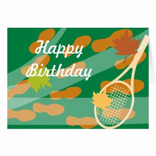 Diseños De Tarjetas De Cumpleaños Best Of Diseño De Tarjeta De Cumpleaños Del Tenis
