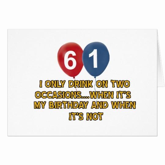 Diseños De Tarjetas De Cumpleaños Fresh Diseños Del Cumpleaños De 61 Años Tarjeta De Felicitación