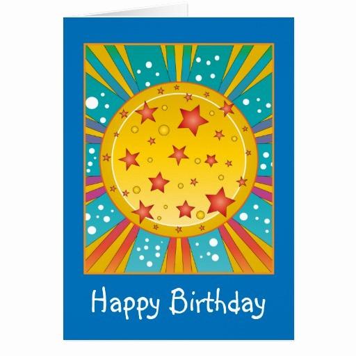 Diseños De Tarjetas De Cumpleaños Lovely Tarjeta Del Diseño De Cumpleaños De La Estrella