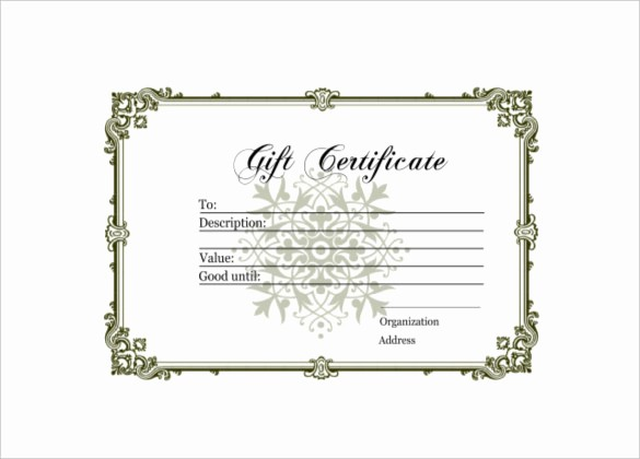 Diy Gift Certificate Template Free Awesome 6 Homemade Gift Certificate Templates Doc Pdf