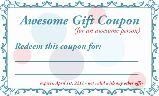 Diy Gift Certificate Template Free Awesome 7 Best Of Printable Gift Certificates for Husband