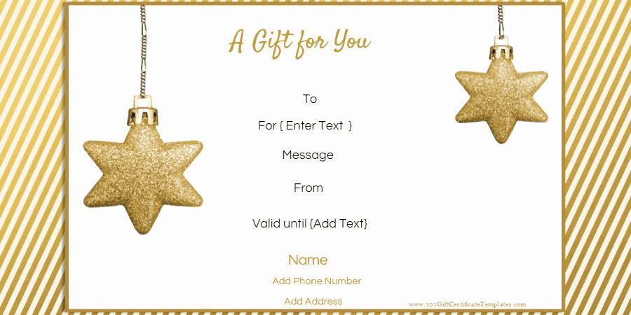 Diy Gift Certificate Template Free Awesome Free Editable Christmas Gift Certificate Template