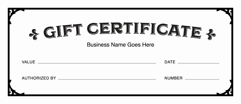 Diy Gift Certificate Template Free Beautiful Gift Certificate Templates Download Free Gift