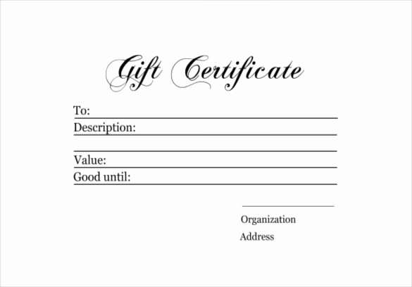 Diy Gift Certificate Template Free Fresh 6 Homemade Gift Certificate Templates Doc Pdf